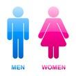 glossy stickers of toilet symbols
