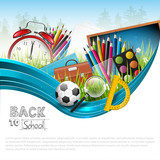 Fototapety Back to school - vector background