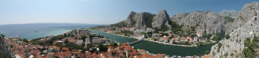 town Omis at Adriatic sea in Croatia