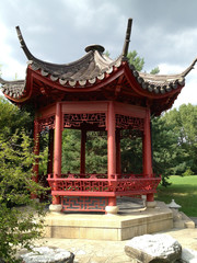 Traditional Chinese garden in Berlin's park