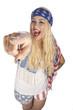 Girl im USA-Look - Zeigefinger