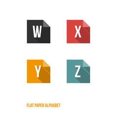 W X Y Z - Flat Design Paper Button Alphabet