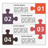 Abstract design template with puzzle pieces