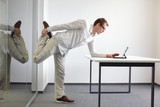 leg stretching in office work
