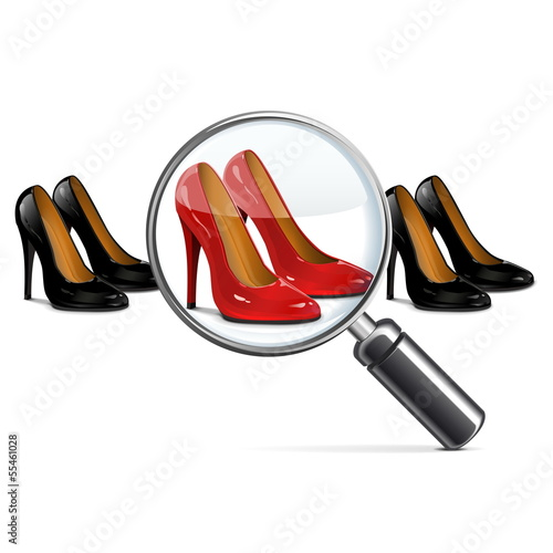 Vector Female Shoes with Lens