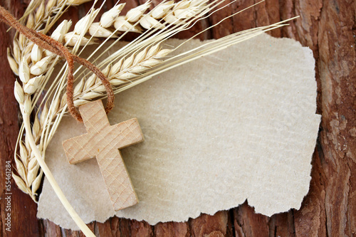 canvas print picture Christliches Motiv mit Textfreiraum