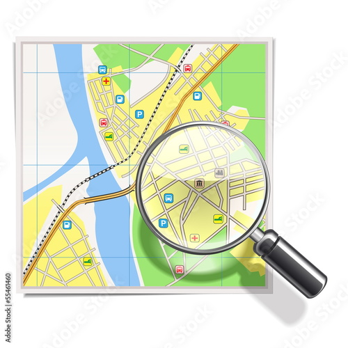 Vector Map with Lens