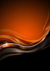 Orange Black and Metal Luxury Background