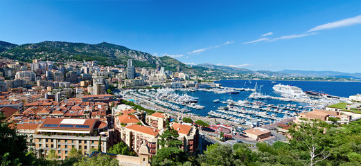 View on monaco harbor
