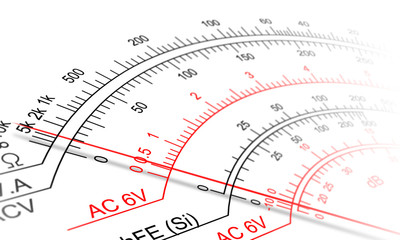 Analog multimeter scale