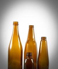 group of brown bottle