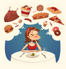 Girl on a diet