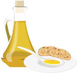 olio con bruschetta