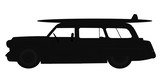 station wagon in silhouette