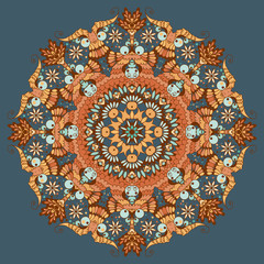 Ornamental round abstract pattern