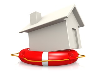 Life buoy with house