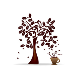 Abstract Design - tree with coffee beans