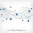 Blue Christmas Swirls
