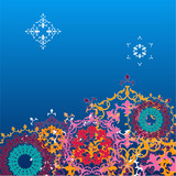 Winter background. snowflakes. vector