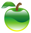Illustration of apple fruit icon clipart
