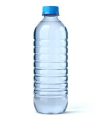 Bouteille d'eau sur fond blanc 1