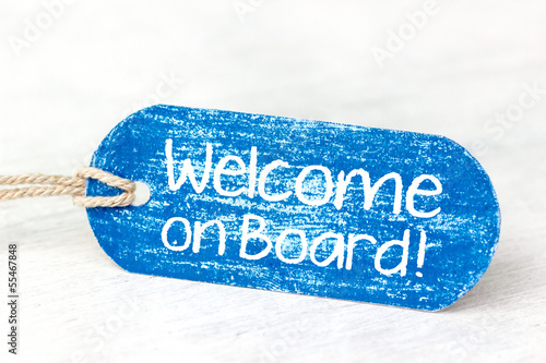 """welcome on board"" - blue label!"
