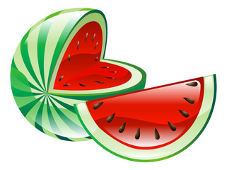 Illustration of watermelon fruit icon clipart