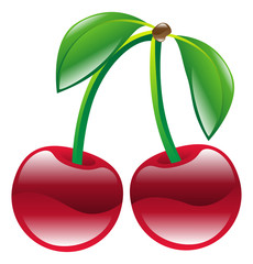Illustration of cherry fruit icon clipart