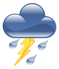 Weather icon clipart lightning thunder storm illustration