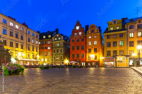 Stortorget in the Old Town of Stockholm, Sweden