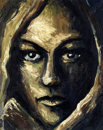 canvas print picture feminine face