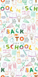 back to school pattern
