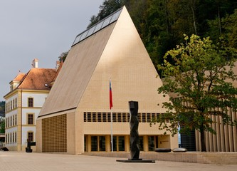 The house of parliament in Vaduz in Liechtenstein, Europe