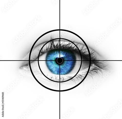 Poster Auge im Fadenkreuz