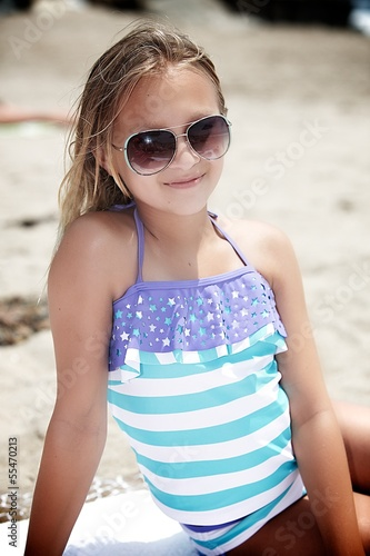 Tween Girl Relaxing