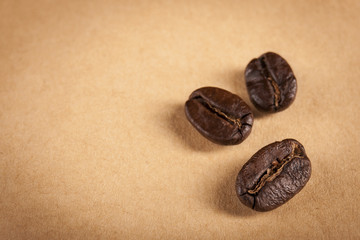 Guatemala Roasted Coffee Beans Close up