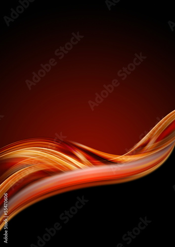 Orange Red and Black Luxury Background