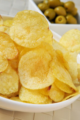 potato chips and olives