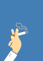 Smoking vector cartoon