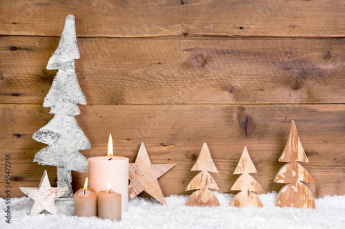 rustikale weihnachtsdekoration aus holz als hintergrund. Black Bedroom Furniture Sets. Home Design Ideas