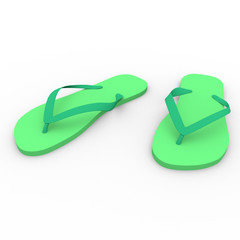 chanclas in green