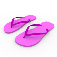 chanclas in pink