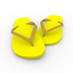 Chanclas in yellow