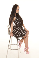 stool sit polka dot chair