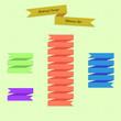 Abstract Vector Ribbons Set