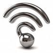 Silver wifi icon