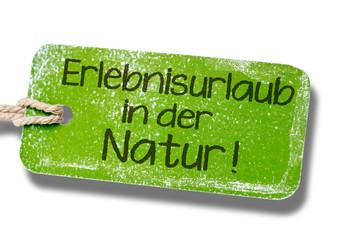 Erlebnisurlaub in der Natur - Label