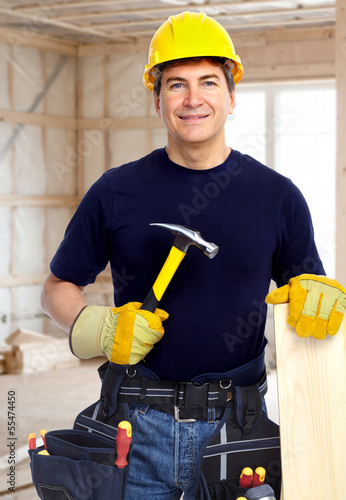 Handyman with a hammer.