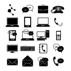 communications icons