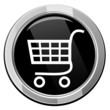 Shopping trolley - Vector icon isolated